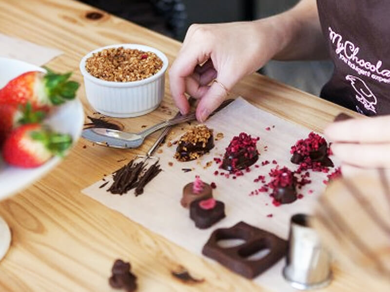 cocktails and chocolate workshop